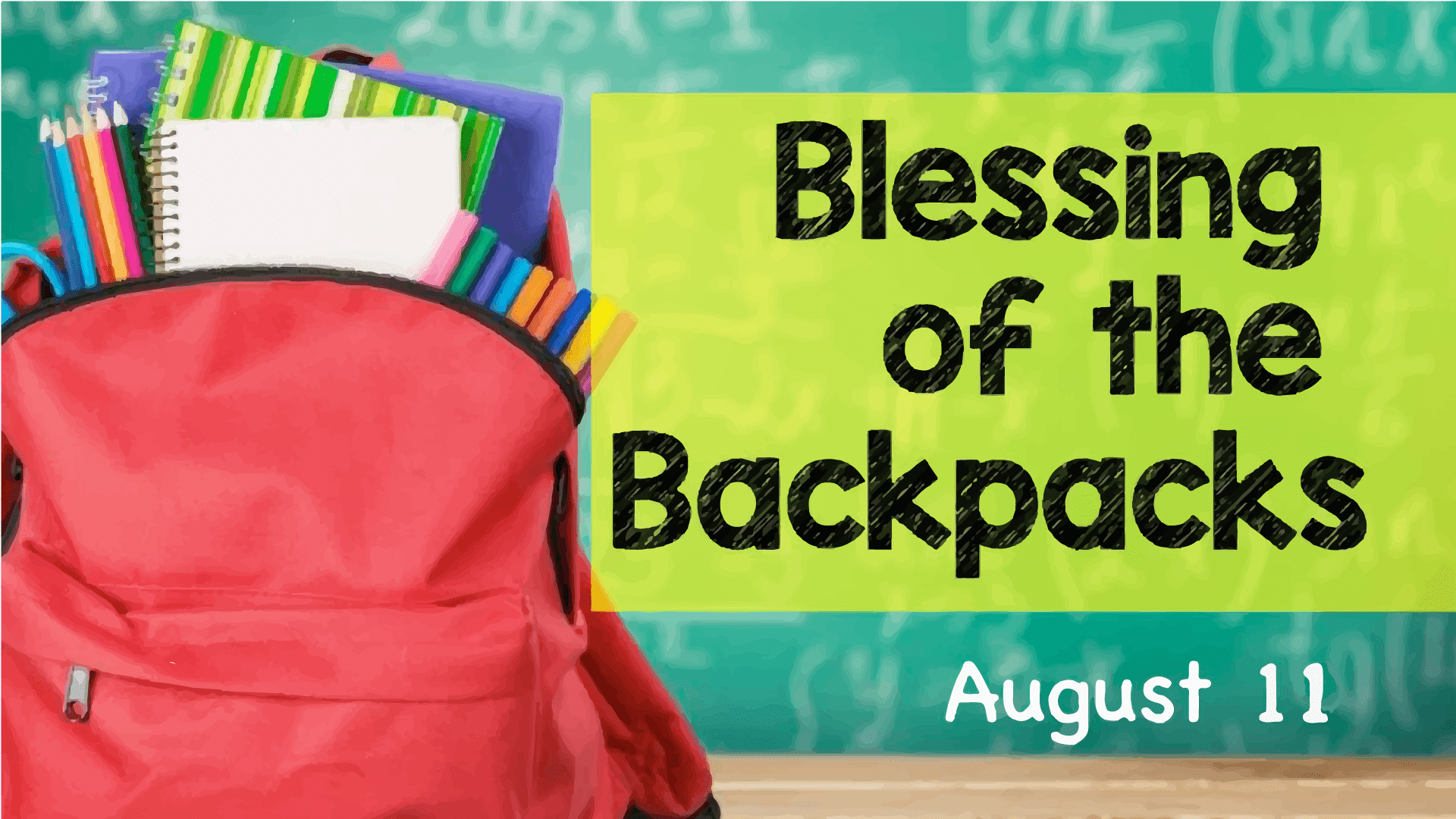 Image result for blessing of the backpacks